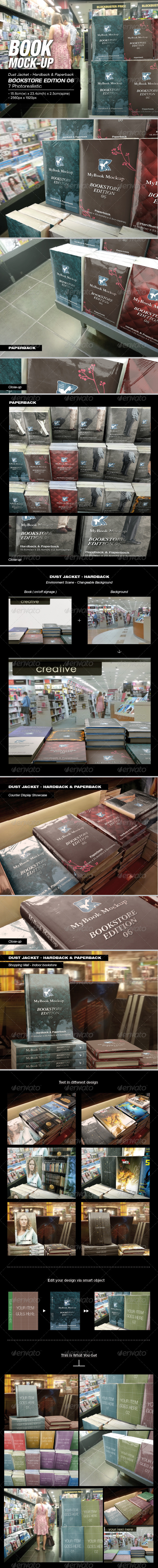 GraphicRiver MyBook Mock-up Bookstore Edition 06 8165911