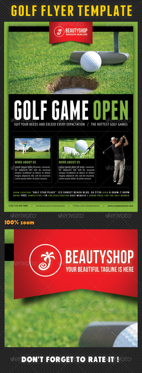 GraphicRiver Golf Flyer Template 04 8166193