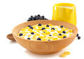 corn flakes in bowl on white - PhotoDune Item for Sale