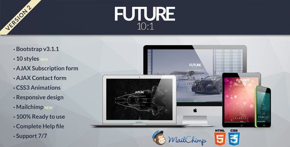 Future - 10 in 1 Coming Soon Template - Under Construction Specialty Pages