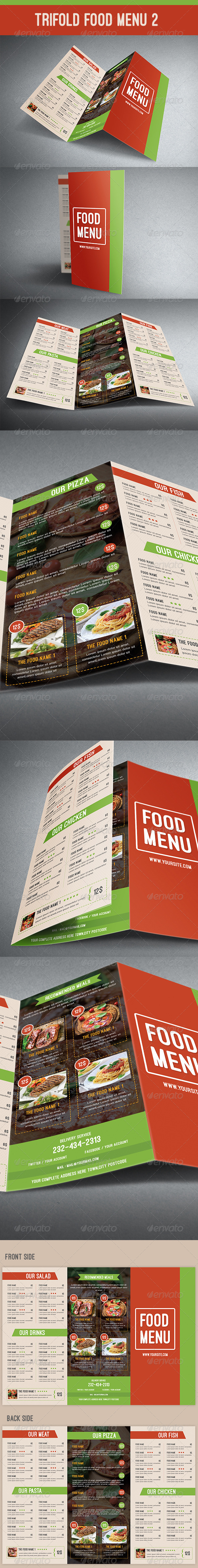 GraphicRiver Trifold Food Menu 2 8166695