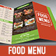 Trifold Food Menu 2 - GraphicRiver Item for Sale