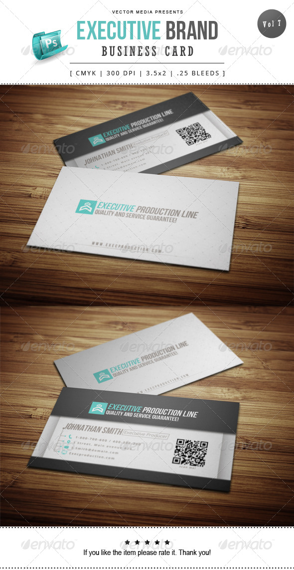 GraphicRiver Executive Brand Business Card [Vol.7] 8166710