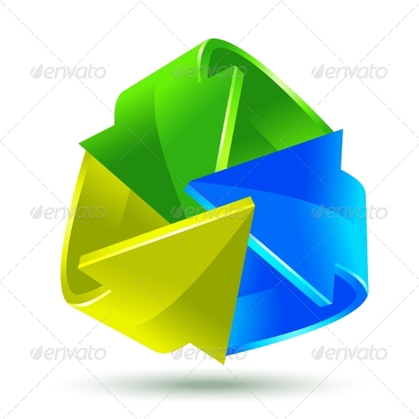 GraphicRiver Colorful Arrows Icon 8166784