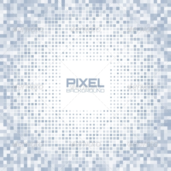 GraphicRiver Abstract Blue Gray Light Pixel Background 8166868
