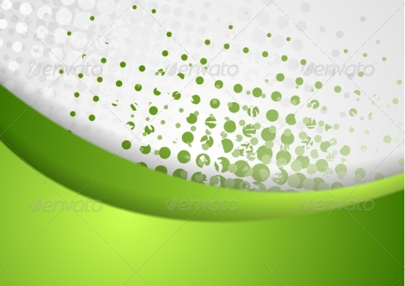 GraphicRiver Abstract Green Grunge Wavy Background 8166907