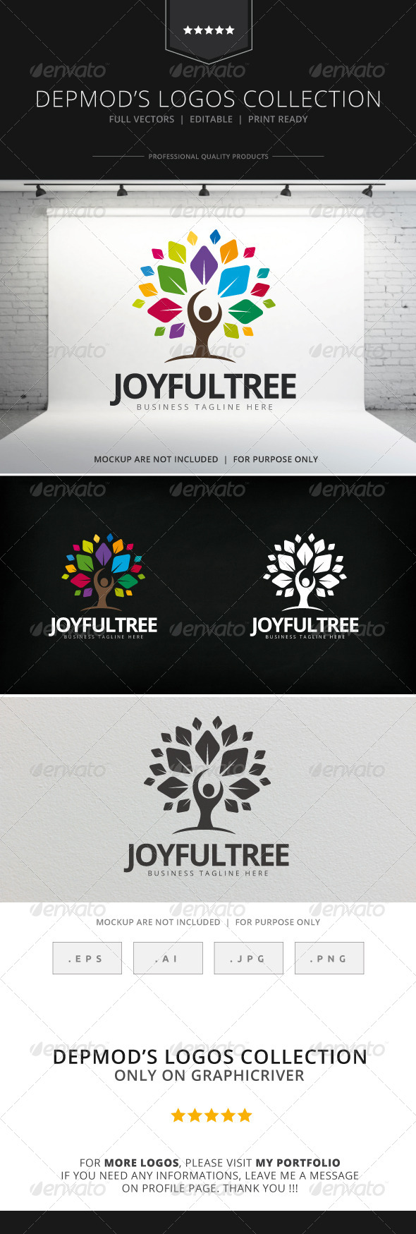 GraphicRiver Joyful Tree Logo 8167062