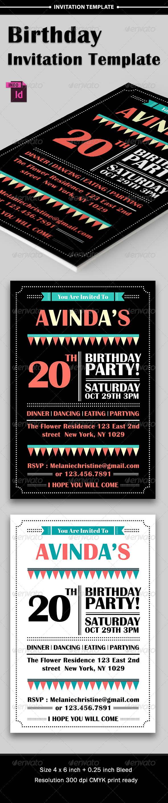GraphicRiver Birthday Party Invitation 8167064