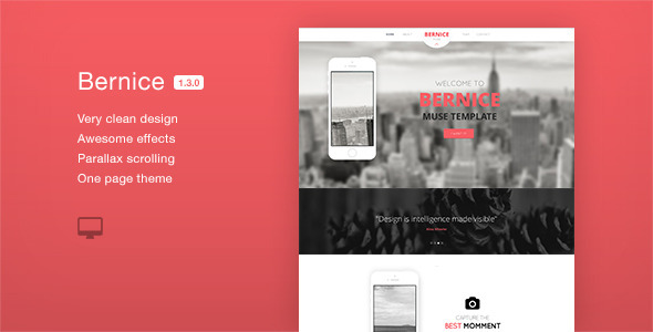ThemeForest Bernice One Page Parallax Muse Template 6863012