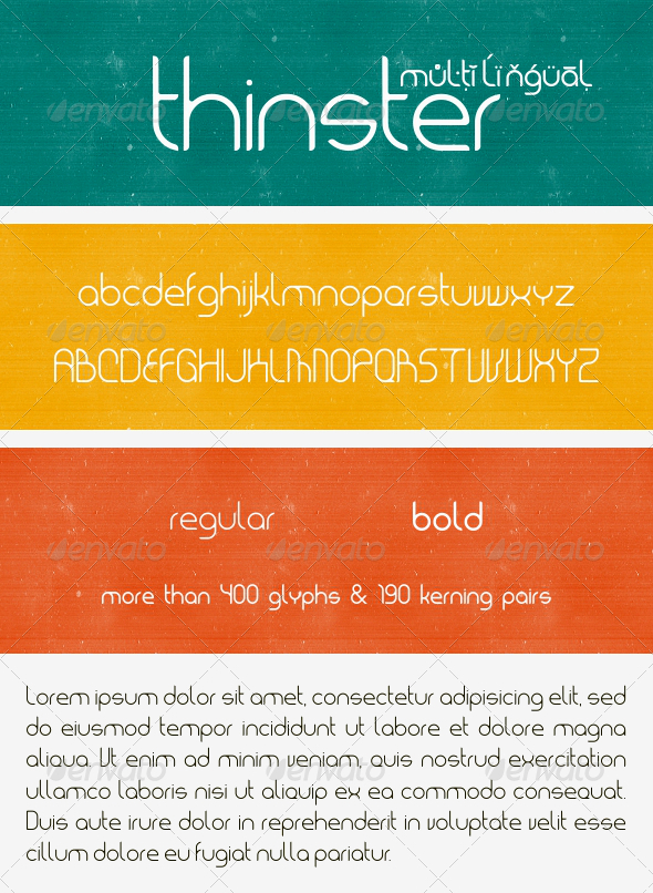 GraphicRiver Thinster Typeface 8167213