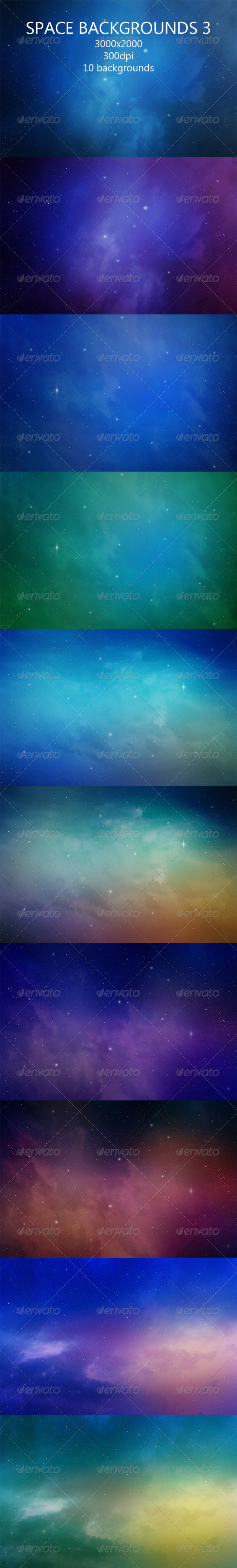 GraphicRiver Space Backgrounds 3 8167216