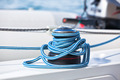 Winch and rope, yacht detail. - PhotoDune Item for Sale