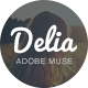 Delia - Multipurpose Muse Template - ThemeForest Item for Sale