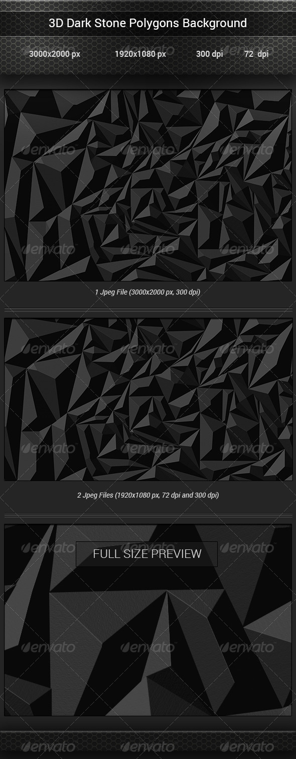 GraphicRiver 3D Dark Stone Polygon Backgrounds 8167489