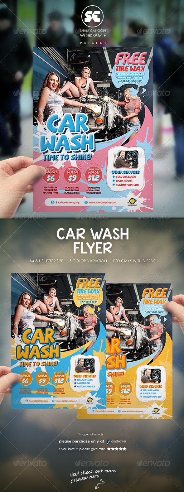 GraphicRiver Car Wash Flyer 8167516