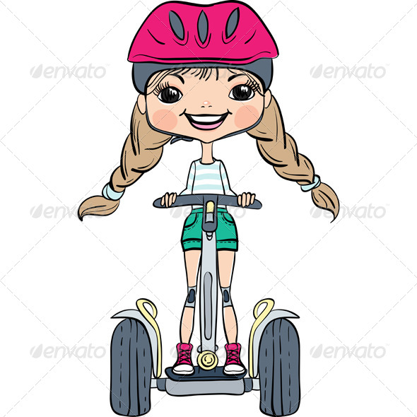 GraphicRiver Girl Riding a Segway 8167517