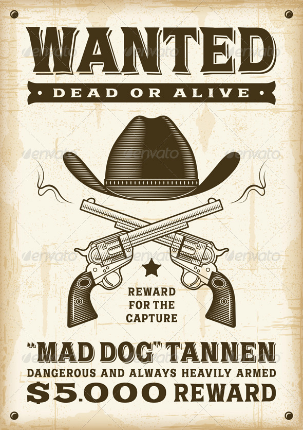GraphicRiver Vintage Western Wanted Poster 8167520