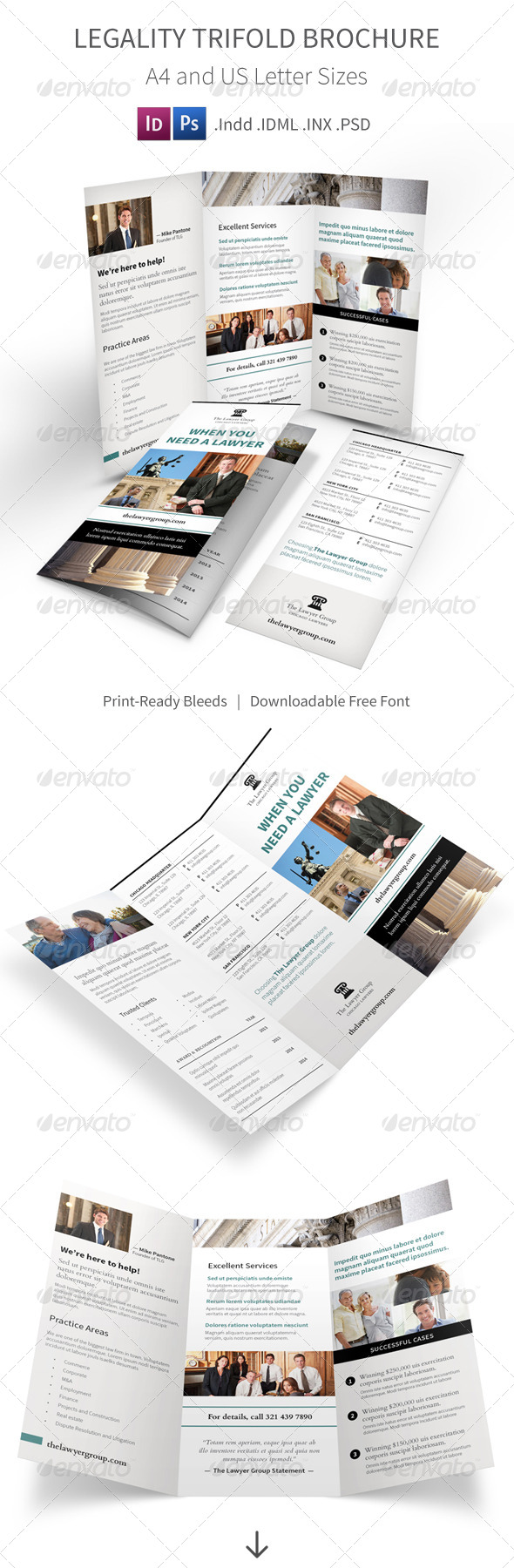 GraphicRiver Legality Trifold Brochure 8167525
