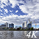 Clouds Above Corporate Buildings - VideoHive Item for Sale