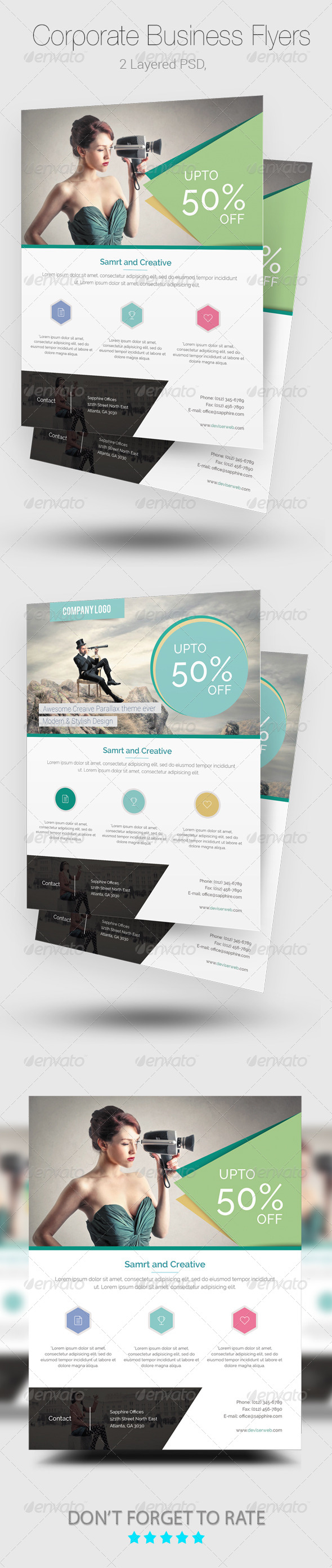 GraphicRiver Corporate Flyer Templates 8167770