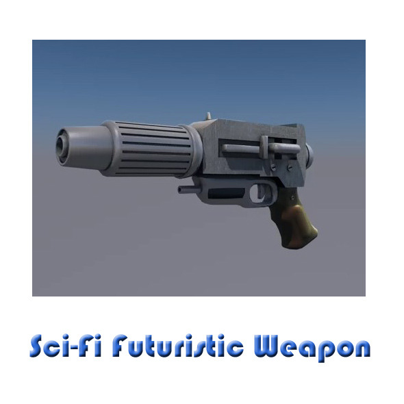 Futuristic laser weapon - sci-fi alien blaster gun - 3DOcean Item for Sale