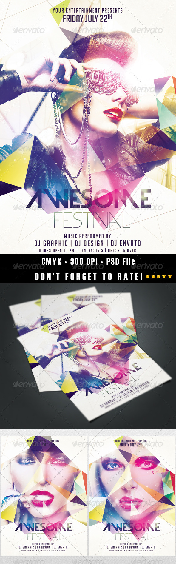 GraphicRiver Awesome Festival Flyer 8168298