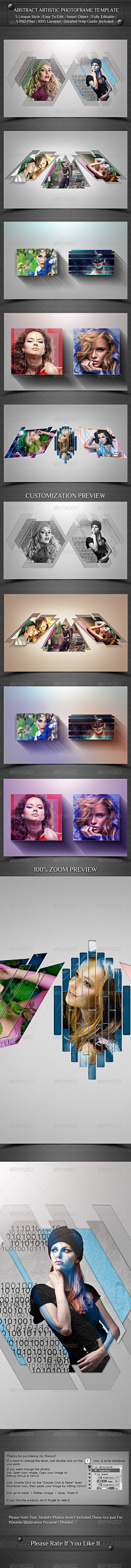 GraphicRiver Abstract Artistic Photoframe Template 8168325