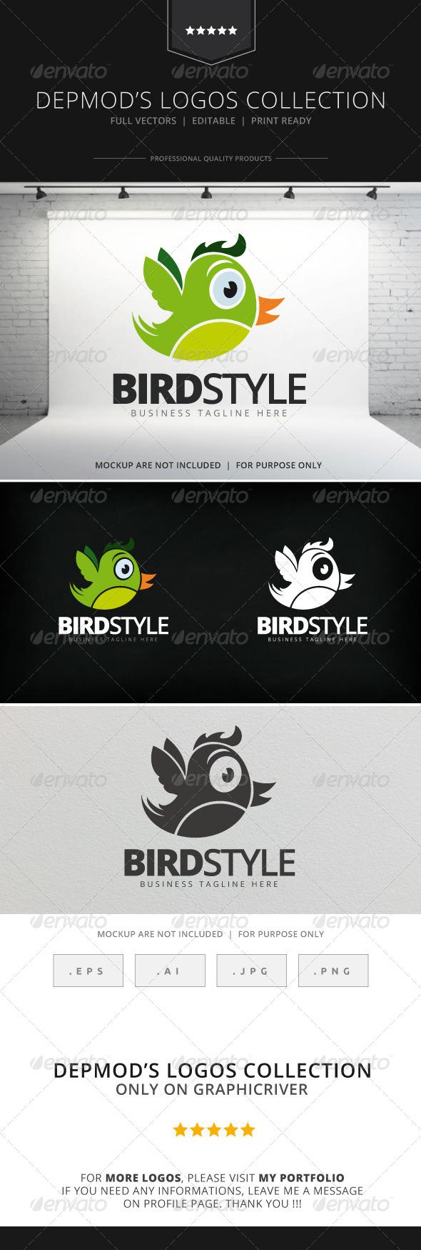 GraphicRiver Bird Style Logo 8168364
