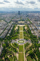 View of Paris, the Champ de Mars from the Eiffel tower - PhotoDune Item for Sale