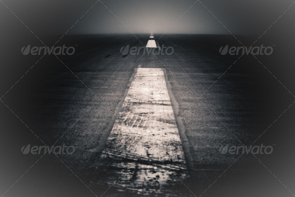 Abstract dark road