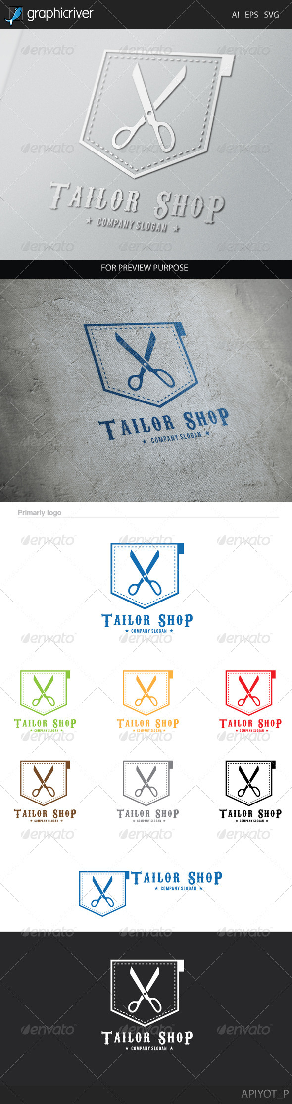 Tailor Shop Logo