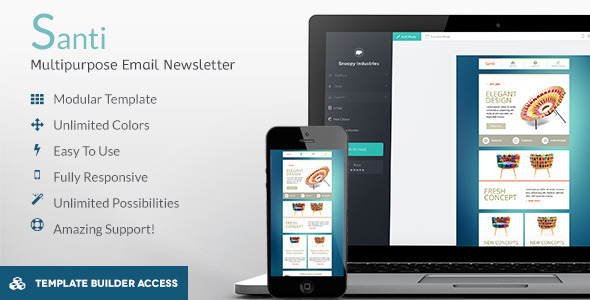 ThemeForest Santi Responsive Email & Builder Editor Access 8168549