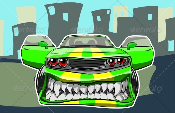 GraphicRiver Angry Car 8168582