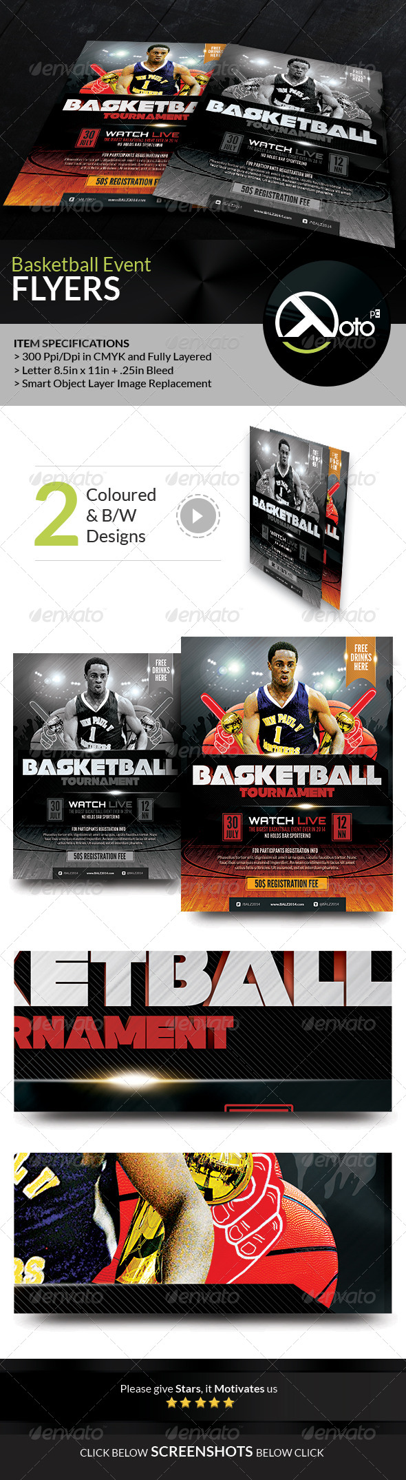 GraphicRiver Basketball Tournament Event Flyers 8158127