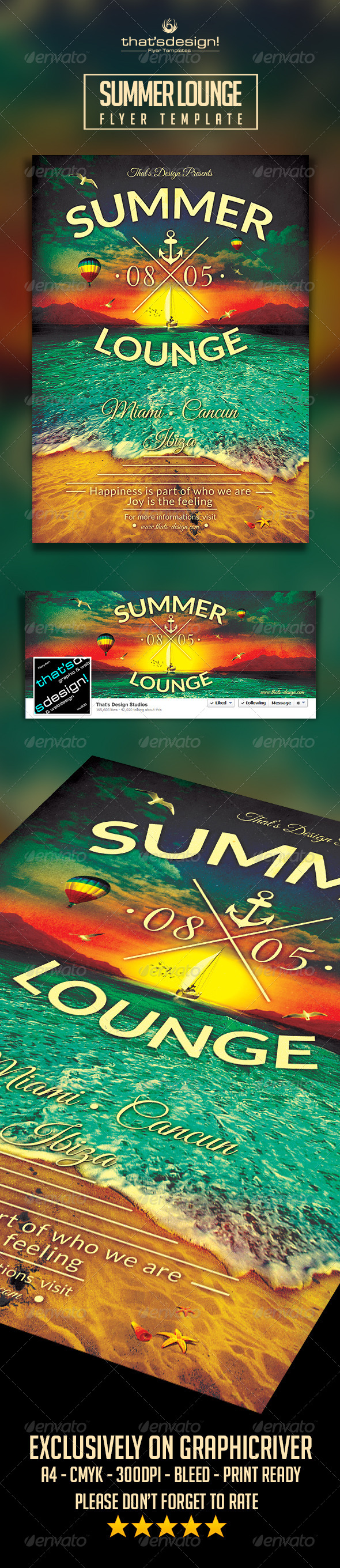 GraphicRiver Summer Lounge Flyer Template V3 8168675