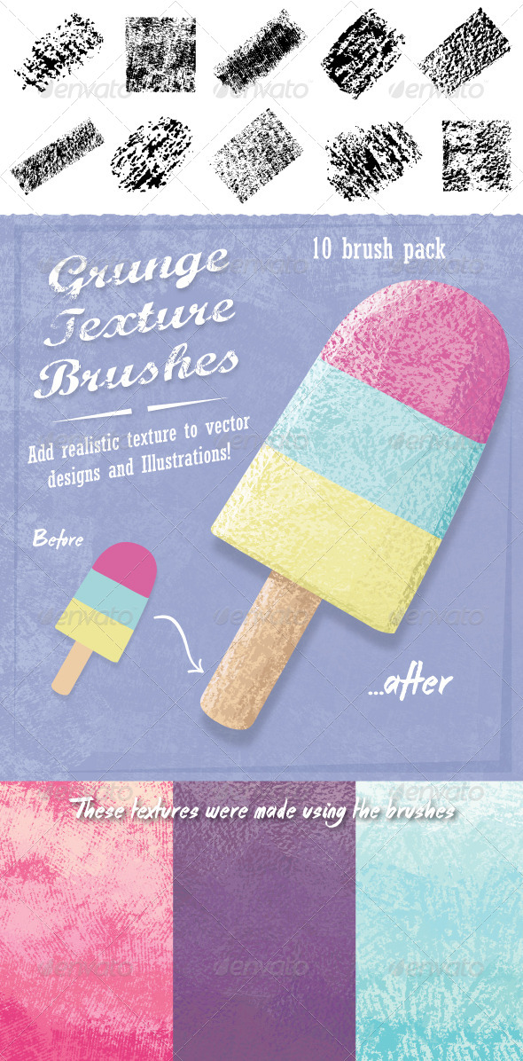GraphicRiver Grunge Texture Brushes 8168928