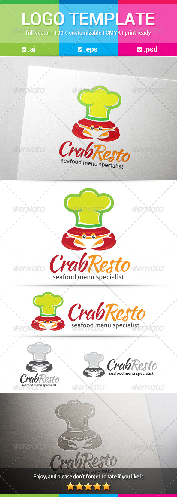 GraphicRiver Crab Resto Logo 8168945