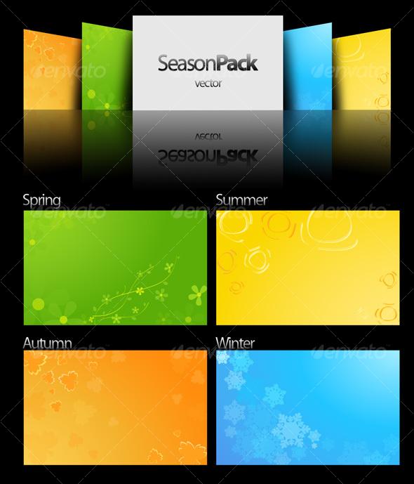 GraphicRiver Season pack vector 34769