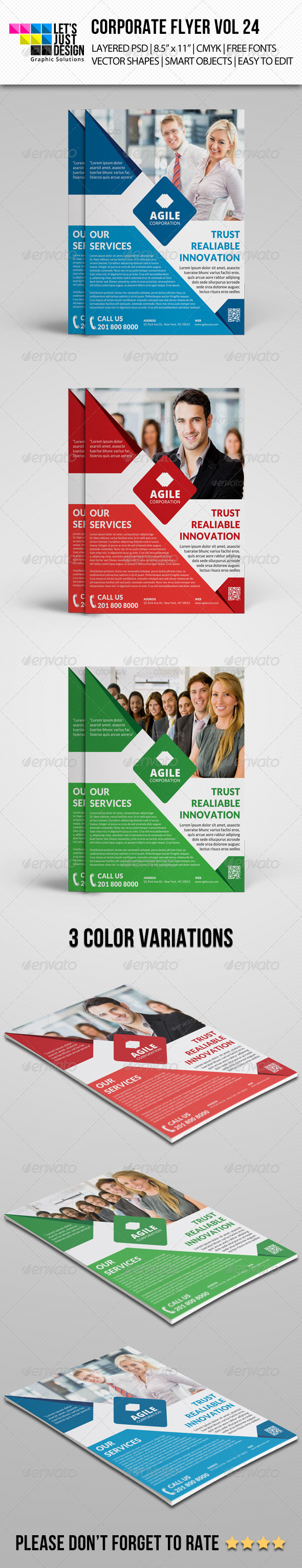 GraphicRiver Corporate Flyer Template Vol 24 8169582
