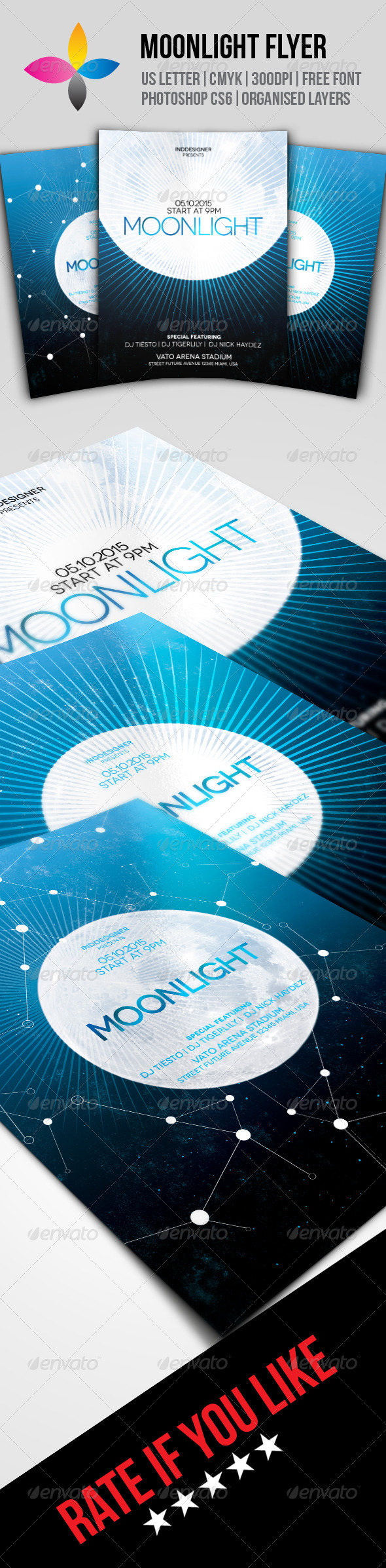GraphicRiver Moonlight Flyer 8169731