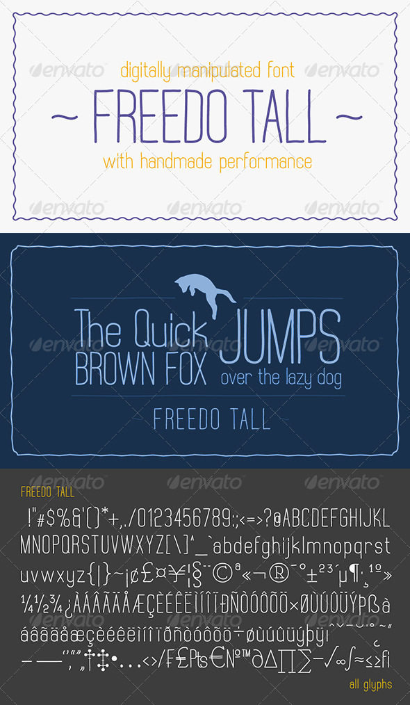 GraphicRiver Freedo Tall Font 8169778