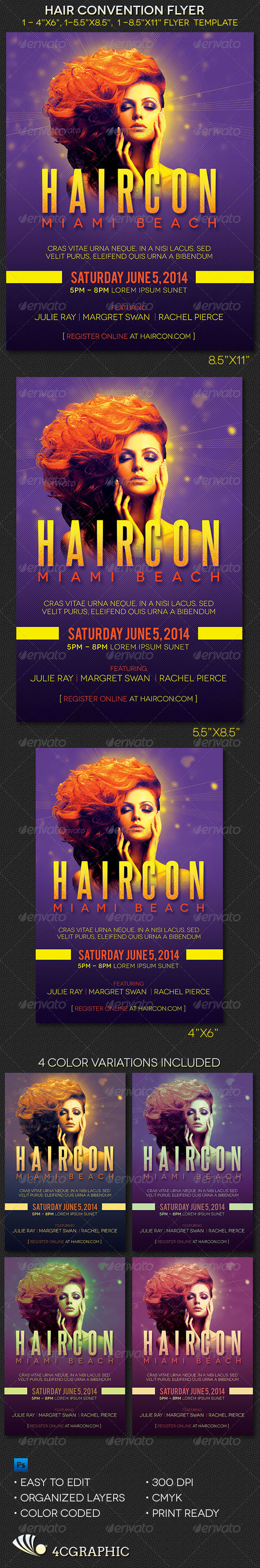GraphicRiver Hair Convention Flyer Template 8169890