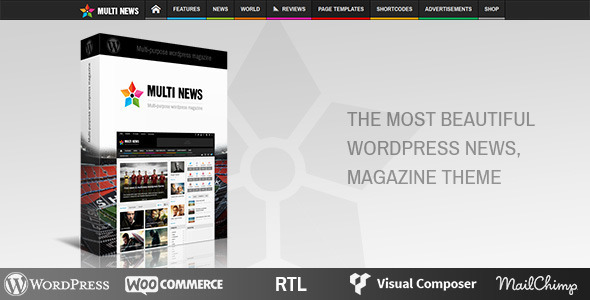 ThemeForest Multinews Multi-purpose Wordpress News Magazine 8103494