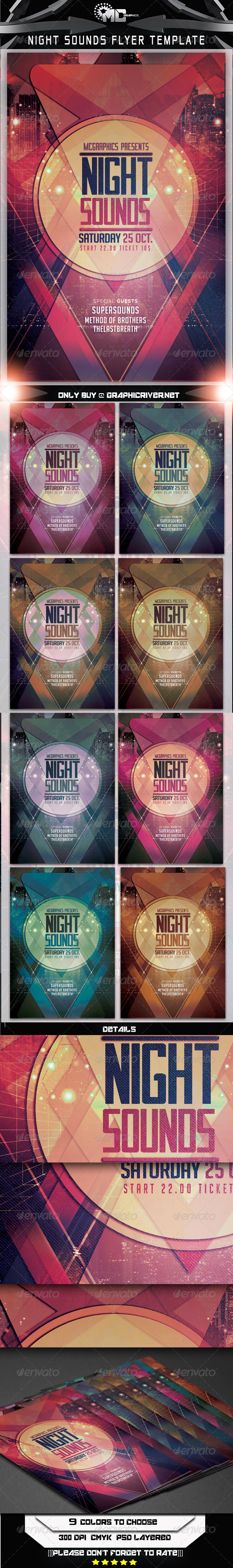 GraphicRiver Night Sounds Flyer Template 8170103