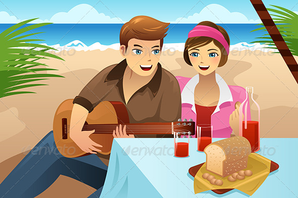 GraphicRiver Couple having a picnic 8170582