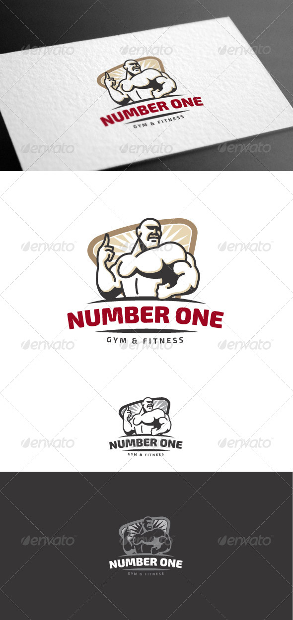 GraphicRiver Number One Logo Template 8170590