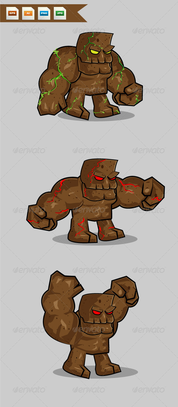GraphicRiver Giant Stone Monster 8167043