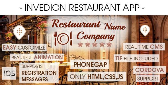 CodeCanyon Restaurant App With CMS iOS 8170683
