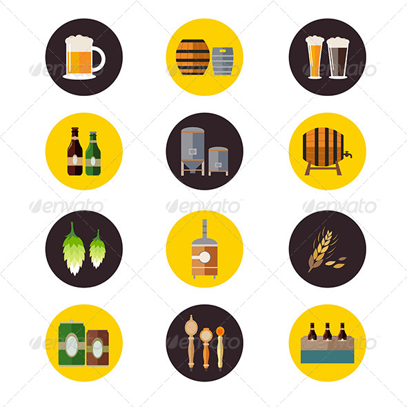 GraphicRiver Brewery Icons 8170686