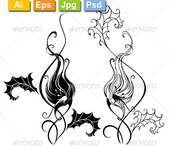 GraphicRiver Silhouette Bindweed 8170732
